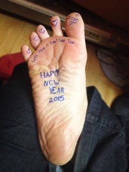 Happy New Year Feet 2015 by BlackwingCosplay