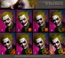 the Joker digital painting Step By Step by ryanbrown-colour