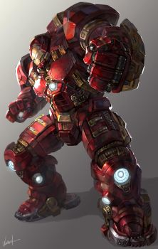 Ironman hulkbuster by GoddessMechanic