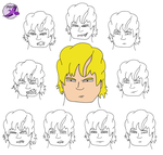 Dom facial expressions collective by PurpleSallyJay