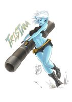 Tristana the Megling Gunner by MyTh1C