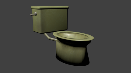 Toilet Smooth Render No bumps yet by Morcal