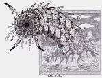 Mongolian death worm (Transition art) by XenoTeeth3