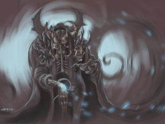 Sorcerer with three faces by Koggg