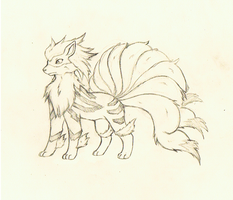 Arcaninetails fusion sketch. by tigersylveon