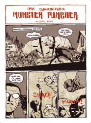 IRA GERSHWIN MONSTER PUNCHER by ANDY KUHN by DeevElliott