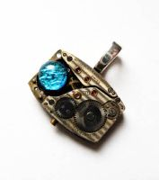 Steampunk 3D Sculpture Pendant by Create-A-Pendant
