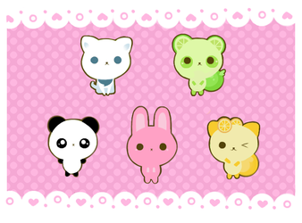 Kawaii Animals by Baorti