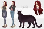 [Commission] Reference sheet for Crystal-Mermaid by FrossetHjerte