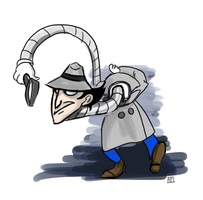 Sketch a day: Inspector Gadget by Bagelosophy