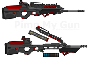 DII 'Cascade' HSAR-828 - Heavy Storm Assault Rifle by Lord-DracoDraconis