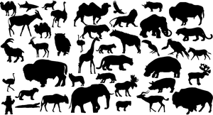 41 Animal Vector Silhouettes by Lukasiniho