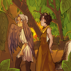birds and squirrels by Fuocofuu