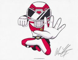 Red Drive Ranger by toonartist