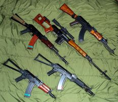 ALL THE AK'S by kenofchaos