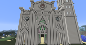 Minecraft - Florence Cathedral Facade by MinecraftArchitect90
