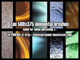 10 Elemental Texture Brush by Red-Eclipse
