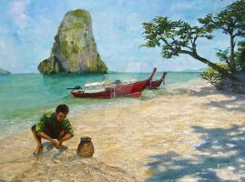 Krabi beach by j0rosa