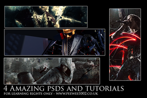 PSD and Tutorial Pack LR by peewee1002