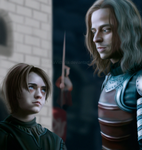 Arya Stark and Jaqen H'ghar by MarinaSchiffer
