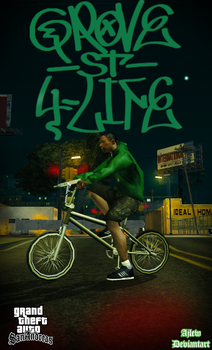 Grand Theft Auto San Andreas: Grove Street 4 Life by ajlew