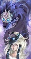 Kindred from League of Legends fanart by LayinArt