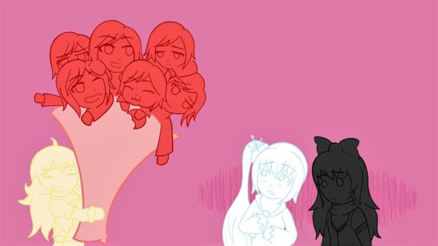 A bunch of Ruby roses by AutumnLion