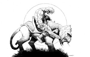 He Man and Battle Cat by RyanStegman