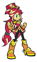 Sunset Shimmer Magic Form by rvceric