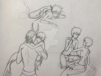 more of sketches of Mer Izuku by GlitchTouch