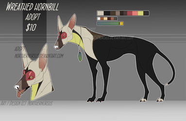 [CLOSED ADOPT] Wreathed Hornbill Hound by NorthernUrsus