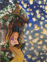 Rapunzel Painting by MicroPixels