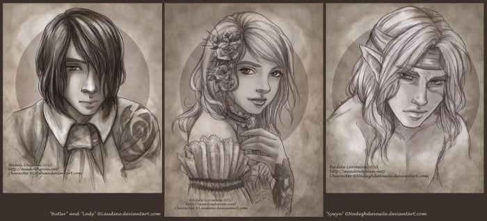 Sketch Portraits by Saimain