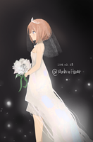 Blanc in Wedding Dress by MashiroHeart
