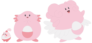 Happiny, Chansey and Blissey Base