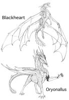 Blackheart and Oryonallus by Teggy