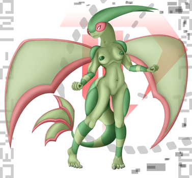 Anthro Flygon - VER Natural 20161212 by Devil-D-IND