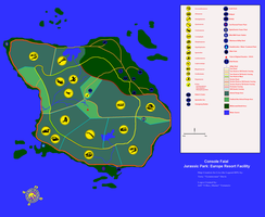 Jurassic Park Azores map by utd7