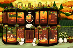 The Teacat cafe front by scribblin