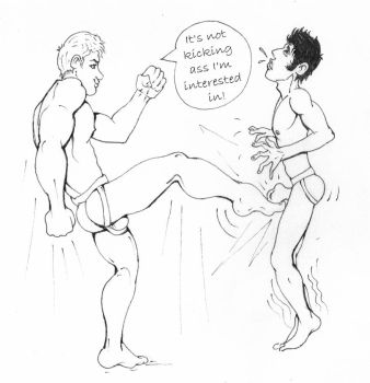 Jeremiah vs Nathan Wrestling 2 by toongalore