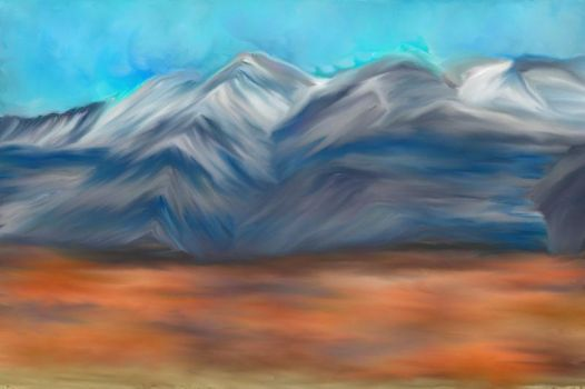 Mountain over the desert by lmtcloud