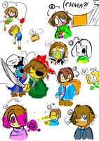 Undertale and AU doodles by Ineedaphone2005