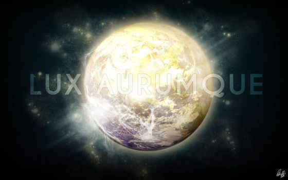 Light and Gold: Lux Aurumque by petrusac