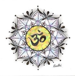 Lotus and Om by thevioletduchess