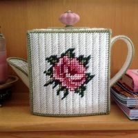 Rose Teapot Tissue Box by pinkythepink