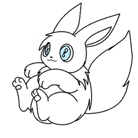 eevee lineart 3 request by michy123