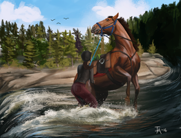 Panic! At the river by Golden-Meadows