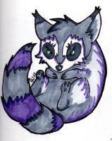 Violet Raccoon by Lunitaire