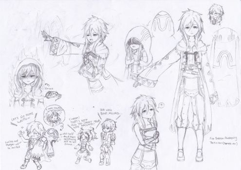 Sketch Design: FE:A - Female Robin/Tactician by OrangeBoxAzu