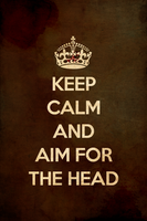 KEEP CALM AND AIM FOR THE HEAD REDUX by romancer